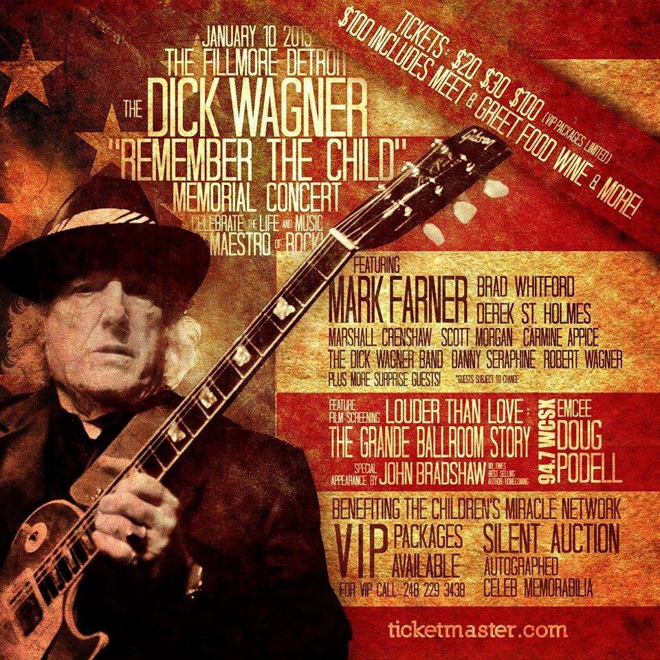 Dick Wagner Memorial Concert Jan 10th 2015